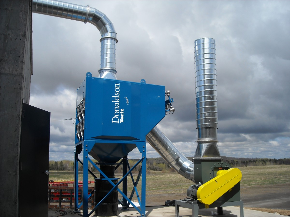 Pulse dust collector with remote blower for Dust collector motor blower